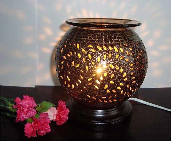 Đèn xông tinh dầu gốm nâu
