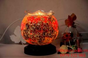 đèn xông tinh dầu pha lê màu sắc