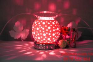 đèn xông tinh dầu gốm trắng cảm ứng