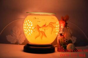 đèn xông tinh dầu gốm cá vàng