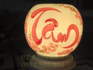 đèn xông tinh dầu gốm bát tràng chữ tâm
