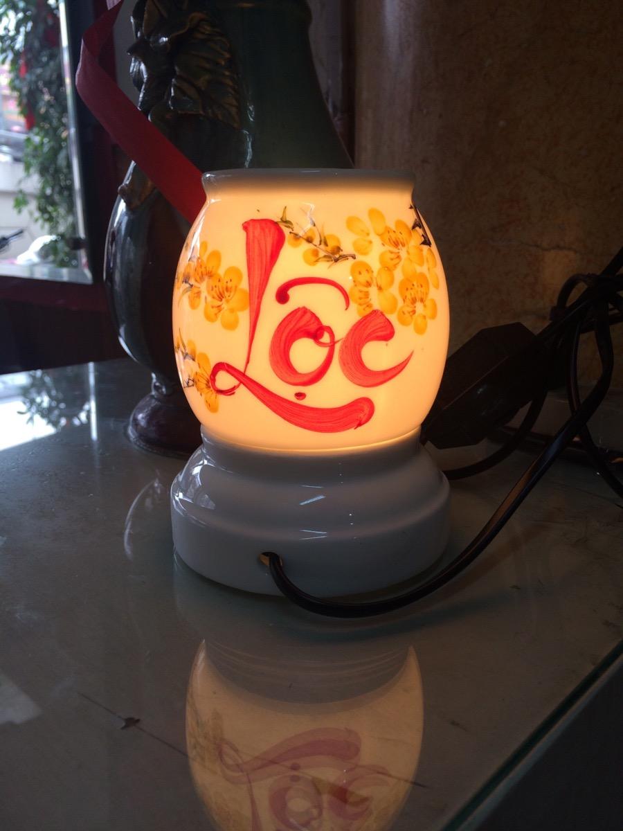 Đèn xông tinh dầu gốm chữ lộc