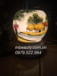 đèn xông tinh dầu gốm đồng quê
